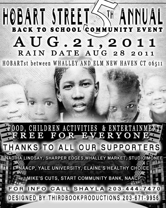 Hobart Street Back to School Community Event